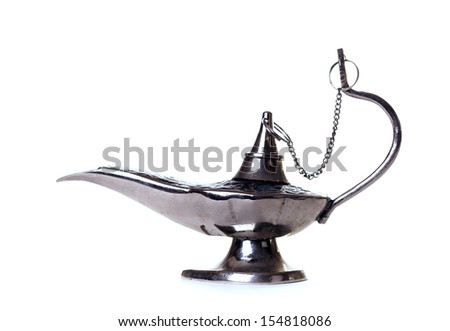 Aladdin's lamp on a white background