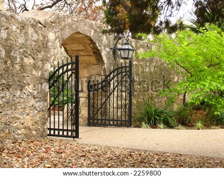 Alamo Gate - stock photo