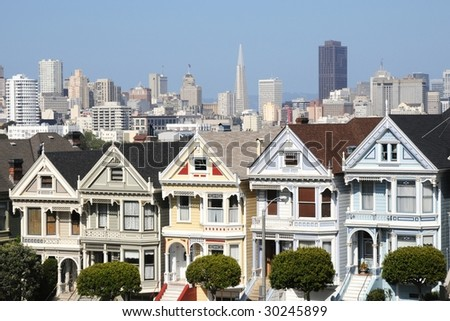 Alamos Square - The Painted Ladies, San Francisco (USA)