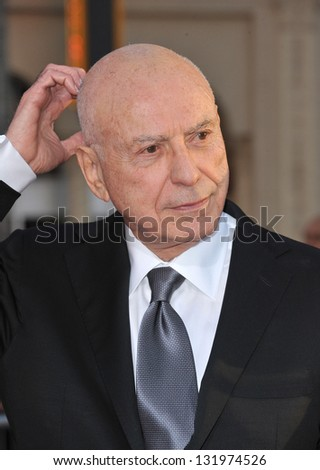 """Alan Arkin at the world premiere of his movie """"The Incredible Burt Wonderstone"""" at the Chinese Theatre, Hollywood. March 11, 2013  Los Angeles, CA Picture: Paul Smith - stock photo"""