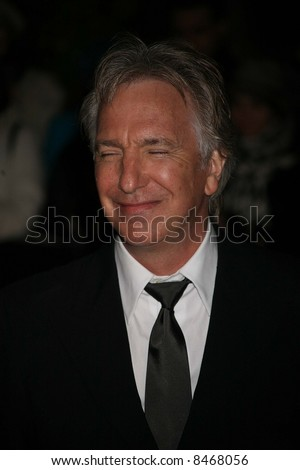 Alan Rickman at the European Premiere of 'Sweeney Todd' at the Odeon Leicester Square on January 10, 2008 in London, England. Credit: Entertainment Press