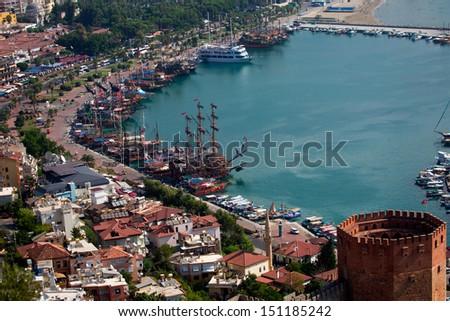 Alanya city - stock photo
