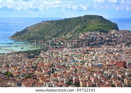 Alanya cityscape.  Turkey - stock photo