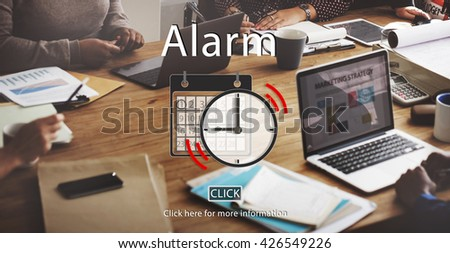 Alarm Appointment Organizer Plan Reminder Concept - stock photo