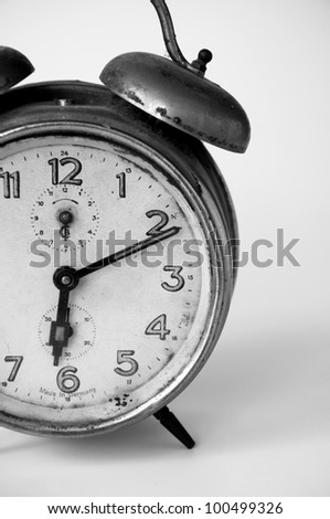 Alarm clock. - stock photo
