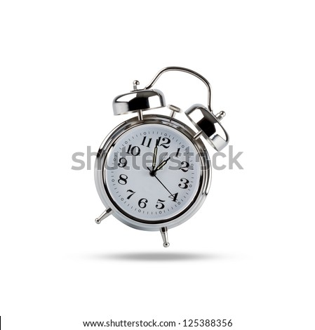 Alarm clock Alarm clock on white - stock photo