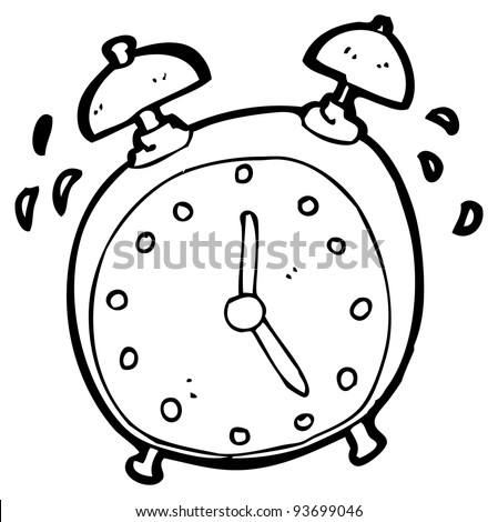 alarm clock cartoon (raster version) - stock photo