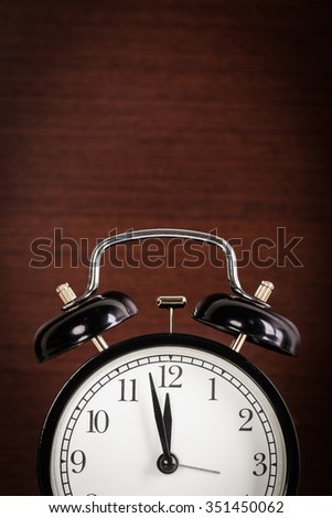 Alarm clock close up