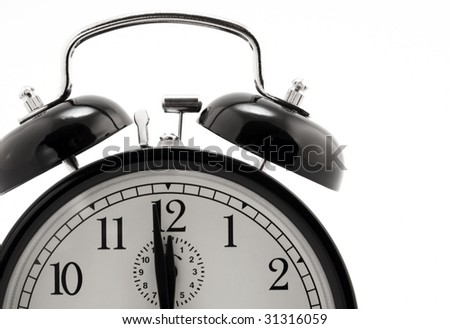 Alarm clock isolated on white