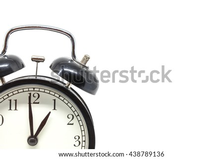 alarm clock isolated White background