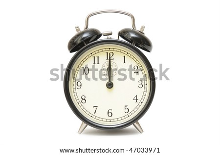 Alarm clock on a white background