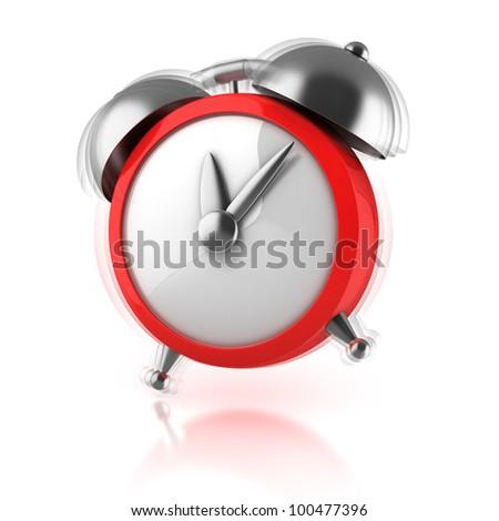 alarm clock ringing 3d illustration - stock photo
