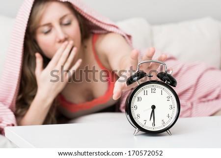 alarm clock, wake up concept - stock photo