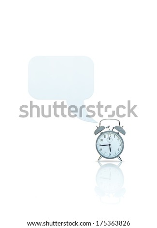 alarm clock with call out - stock photo