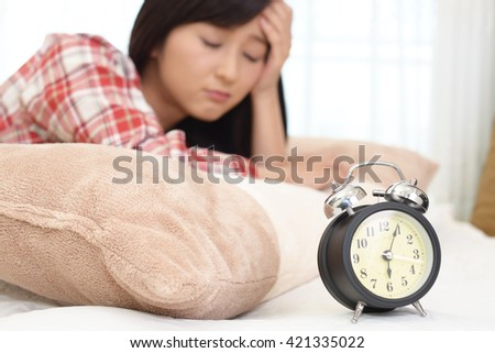 Alarm clock with woman