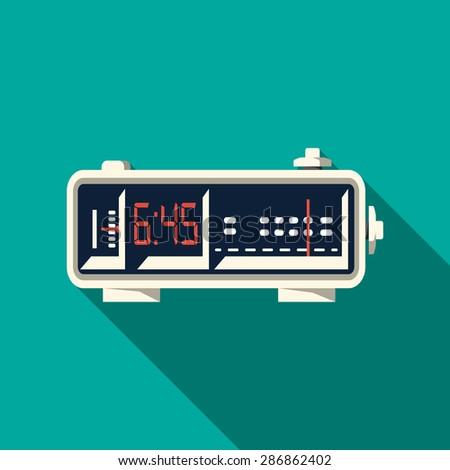 Alarm Radio Clock - stock photo