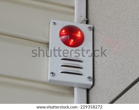 Alarm, security system. - stock photo