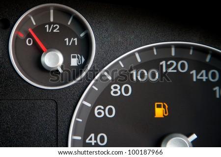 Alarm show fuel low - stock photo