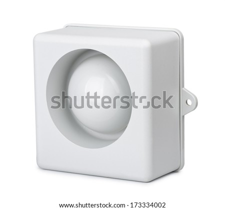 Alarm siren - part of home security system - stock photo