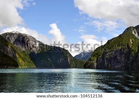 Alaska Fjords - stock photo