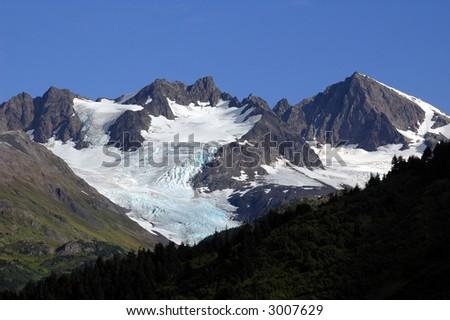 Alaska, Glacier - stock photo
