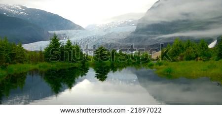 Alaska Lake - stock photo