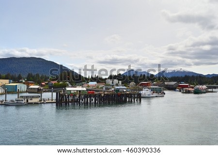 Alaska Marine Highway Ferry Docked Terminal in Petersburg, ALASKA USA : 9 May 2016