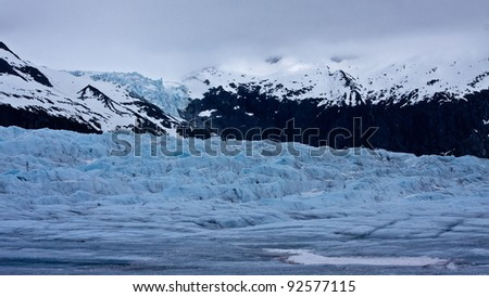 Alaska's Mendenhall Glacier - stock photo