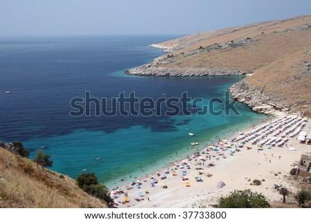 Albanian beach 03 - stock photo