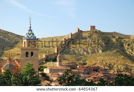 Albarracin, medieval town of Spain, in the province of Teruel - stock photo