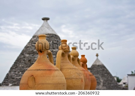 Alberobello Italy Trulli Village - stock photo