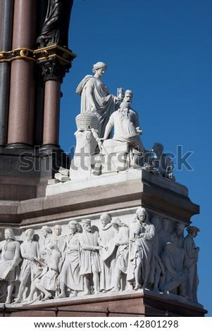 Albert memorial London - stock photo