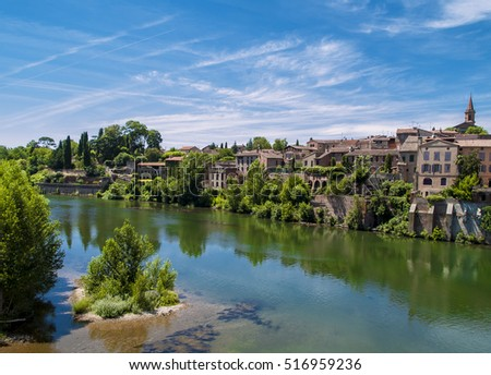 Albi town, located in France