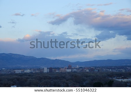 albuquerque in new mexico as seen from viewpoint