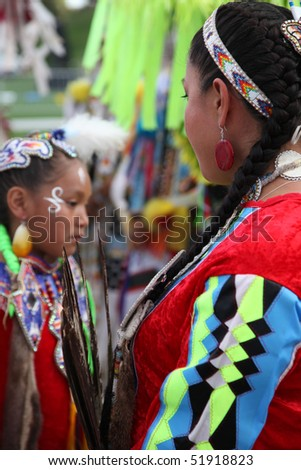 ALBUQUERQUE, NEW MEXICO-APRIL 24:  The Gathering of Nations is the largest Indian Pow Wow in North America, and it took place at the University of New Mexico on April 24, 2010 in Albuquerque. - stock photo