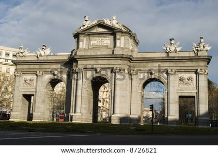 Alcala Door,Madrid - stock photo