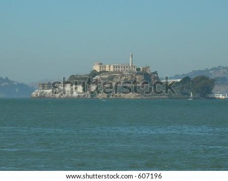 Alcatraz in San Francisco - stock photo