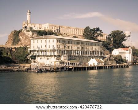 Alcatraz in San Francisco, USA - stock photo