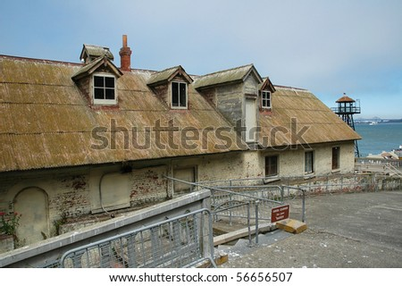 Alcatraz Island Prison Guard Barracks - stock photo