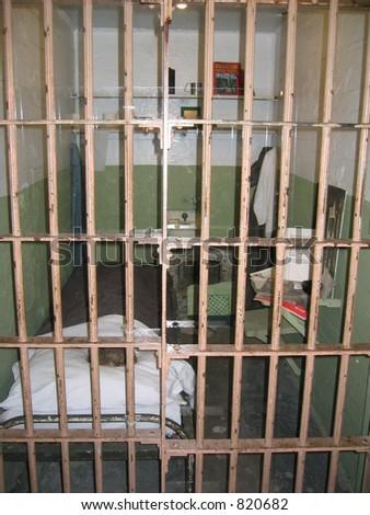 Alcatraz Jail - stock photo