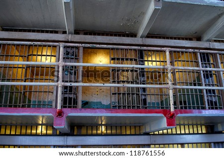 Alcatraz penitentiary - stock photo