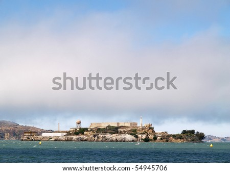 Alcatraz prison in San Francisco, California - stock photo