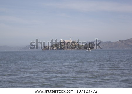 Alcatraz Prison, San Francisco, USA - stock photo