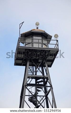 Alcatraz Prison Watch Tower - stock photo