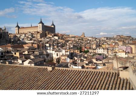 Alcazar fortification, Toledo, Spain - stock photo