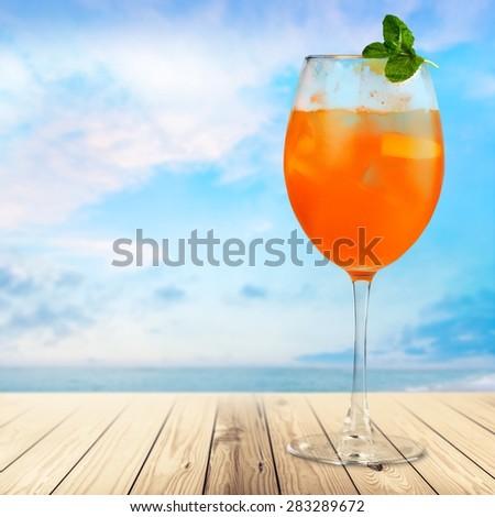 Alcohol, alcoholic, background. - stock photo
