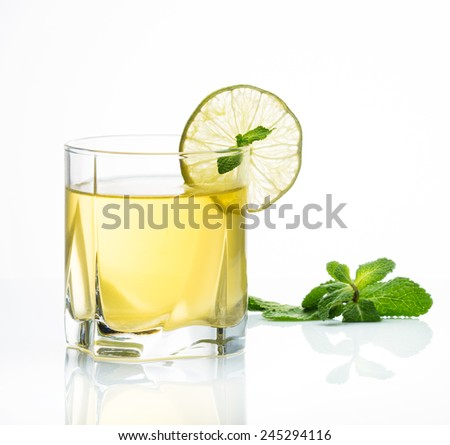 Alcohol in glass - stock photo