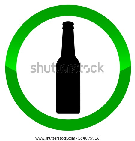 Alcohol sign on a white background - stock photo