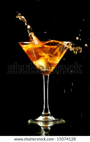 alcohol splash - stock photo