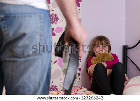 Alcohol violence family problems - stock photo